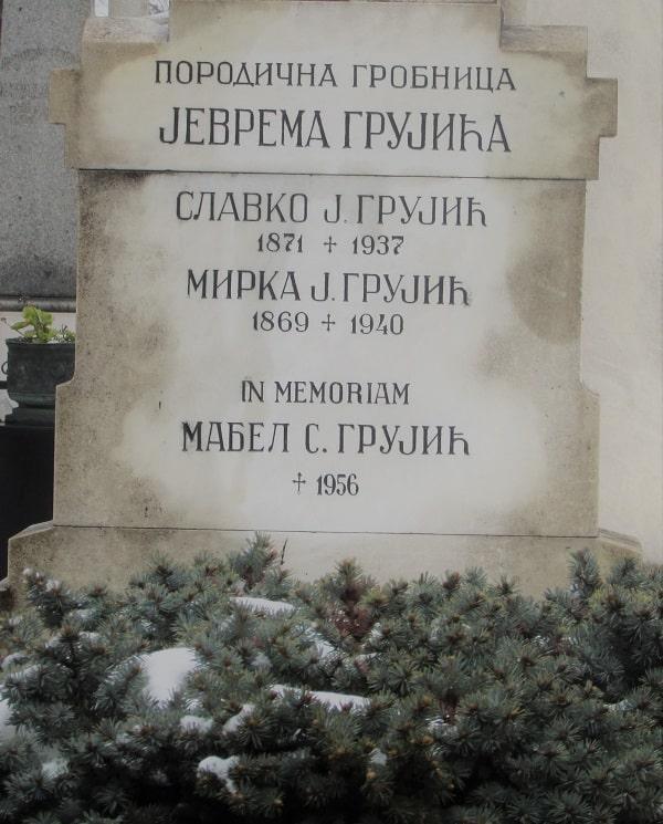 Породична гробница Јеврема Грујића на Новом гробљу