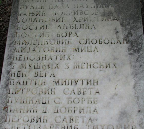 Memorial Cemetery of 1944 Belgrade Airs Strikes Victims