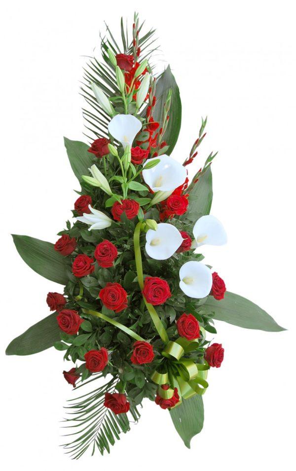 S suza crvene ruže, kale, beli ljiljani