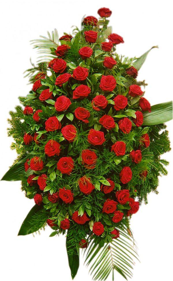 S venac veći crvene ruže