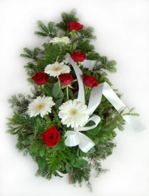 S suza crvene ruže, beli gerber